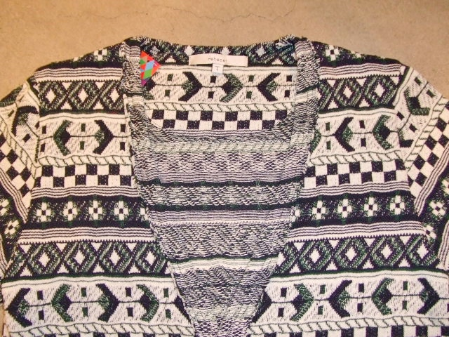 rehacer Cotton Jacquard cardigan NAVY FT1