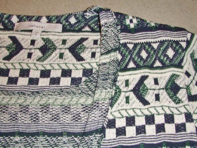 rehacer Cotton Jacquard cardigan NAVY FT2