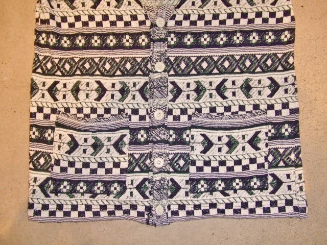 rehacer Cotton Jacquard cardigan NAVY FT3