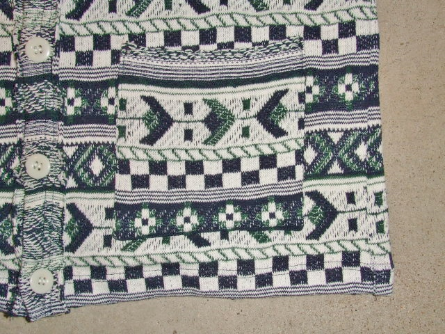 rehacer Cotton Jacquard cardigan NAVY FT4