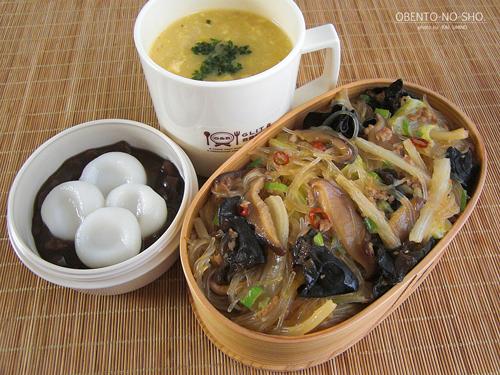 白菜と春雨のうま煮丼弁当01