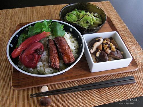 燻製鮭ハラミのお茶漬け*おウチご飯01
