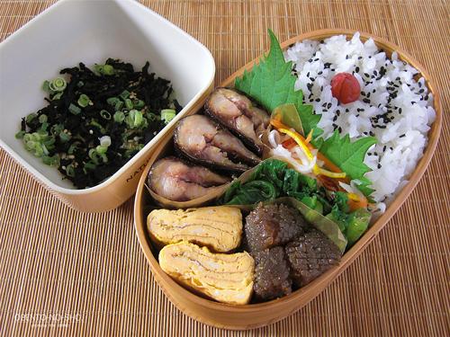 秋刀魚の柚子胡椒焼き弁当01