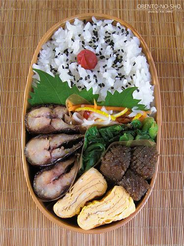 秋刀魚の柚子胡椒焼き弁当03