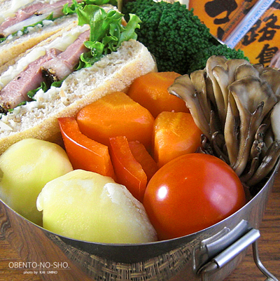 鴨燻製サンド&温野菜弁当03
