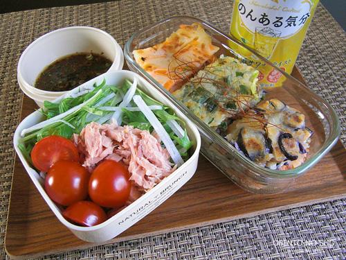 3種の野菜チヂミ弁当01