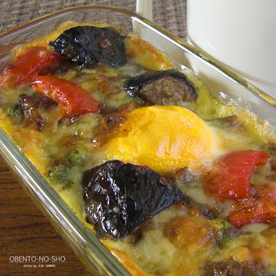 茄子の焼きチーズカレー弁当02