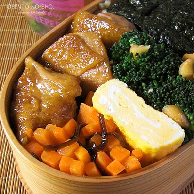 鶏のオレンジ照り焼き弁当02