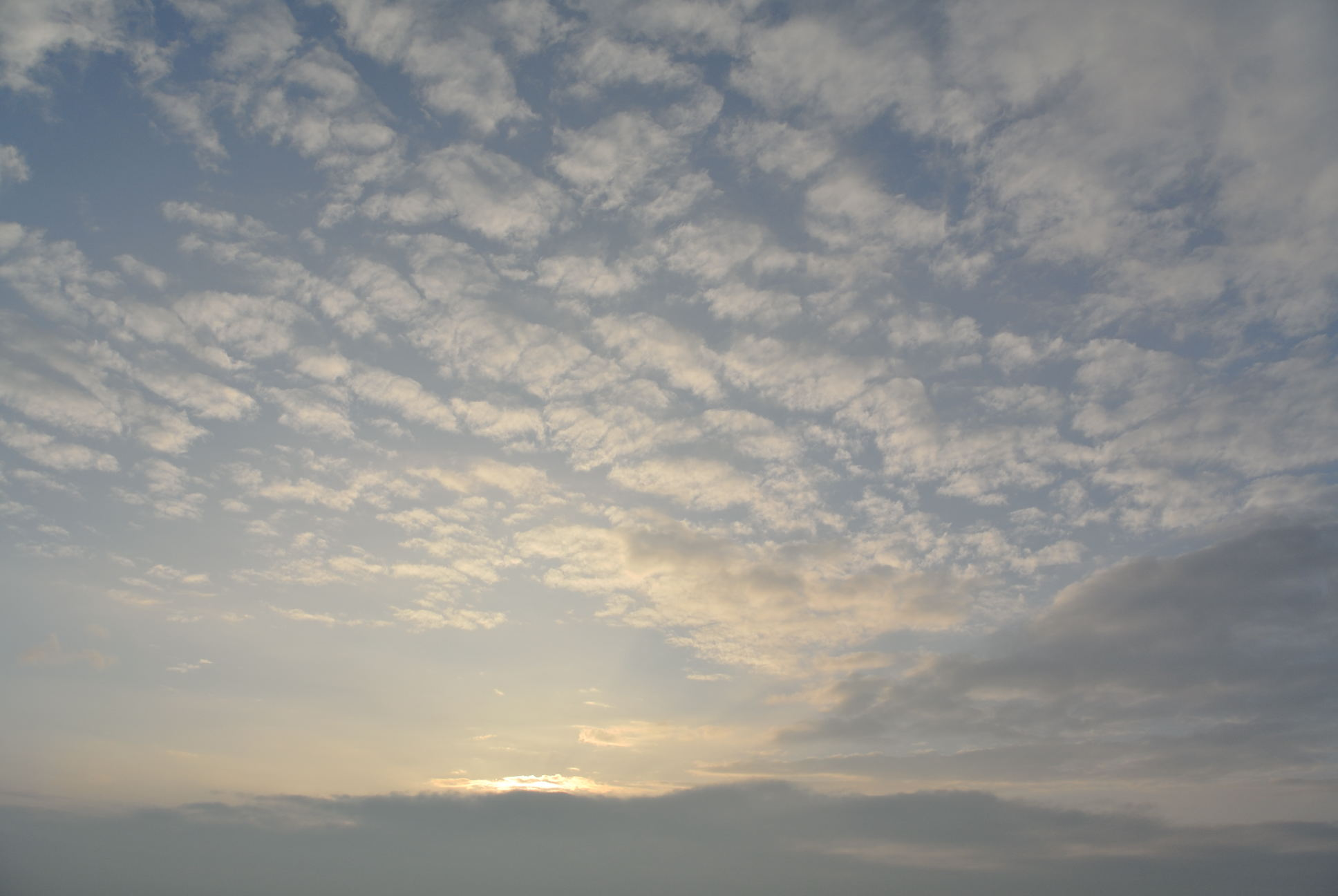 ふたみシーサイド公園からの夕焼け空