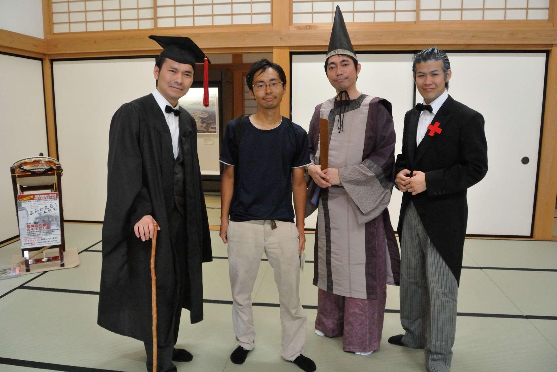 左から大隈重信、私、鍋島直正、佐野常民