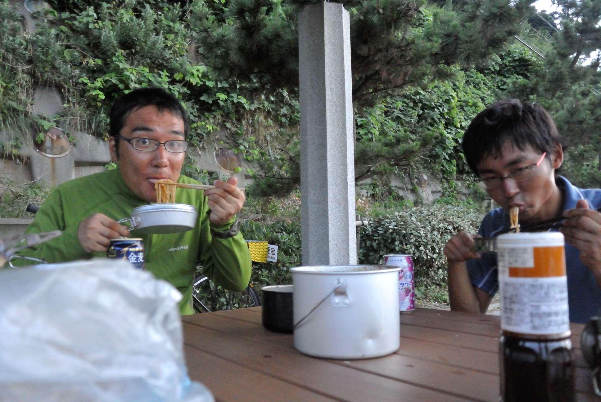 長山さんと食事