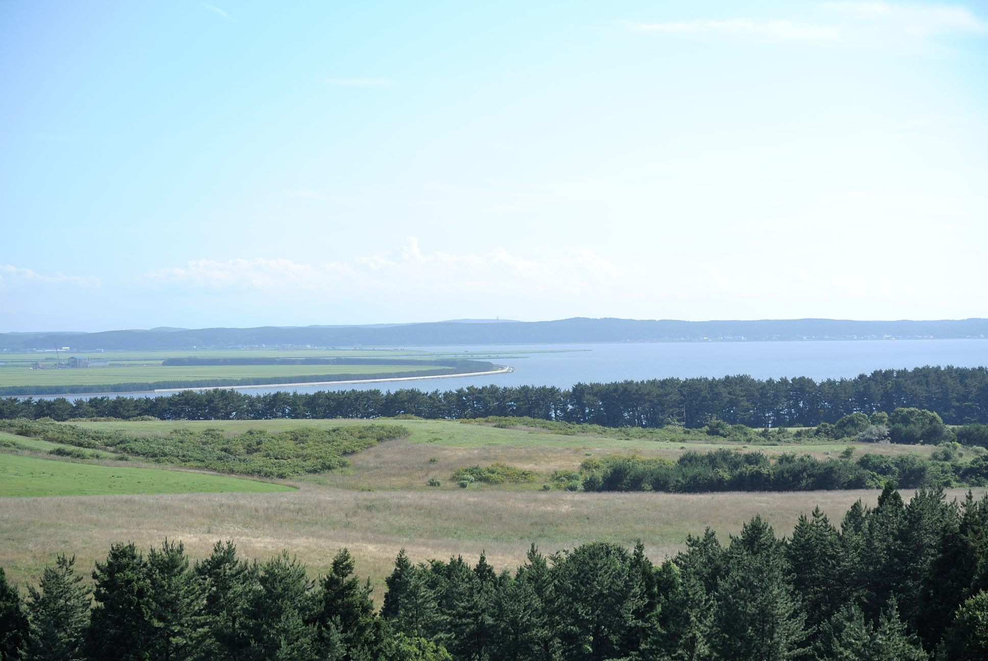 十三湖高原展望台からの眺め