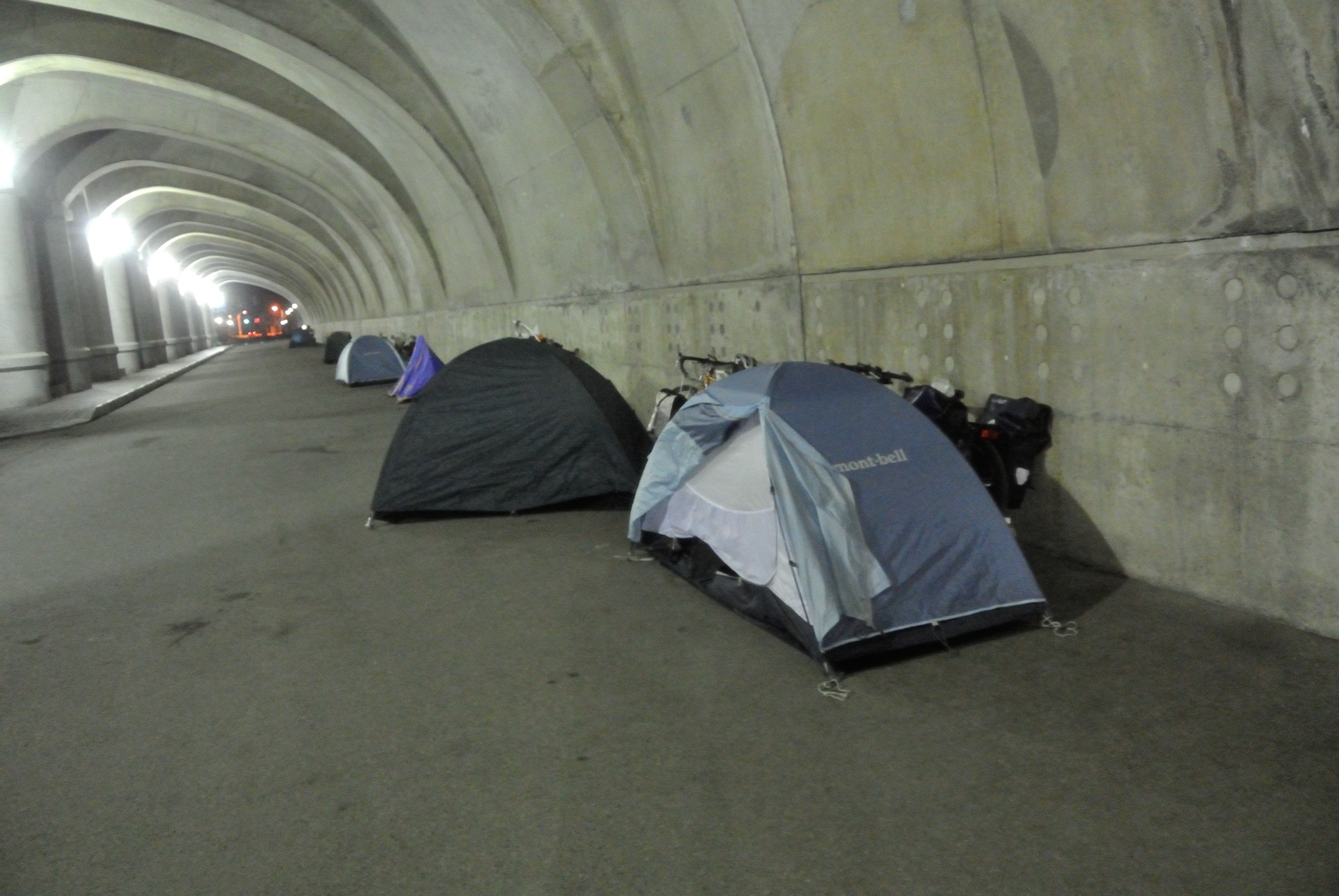 防波堤ドームは有名なキャンプサイト…