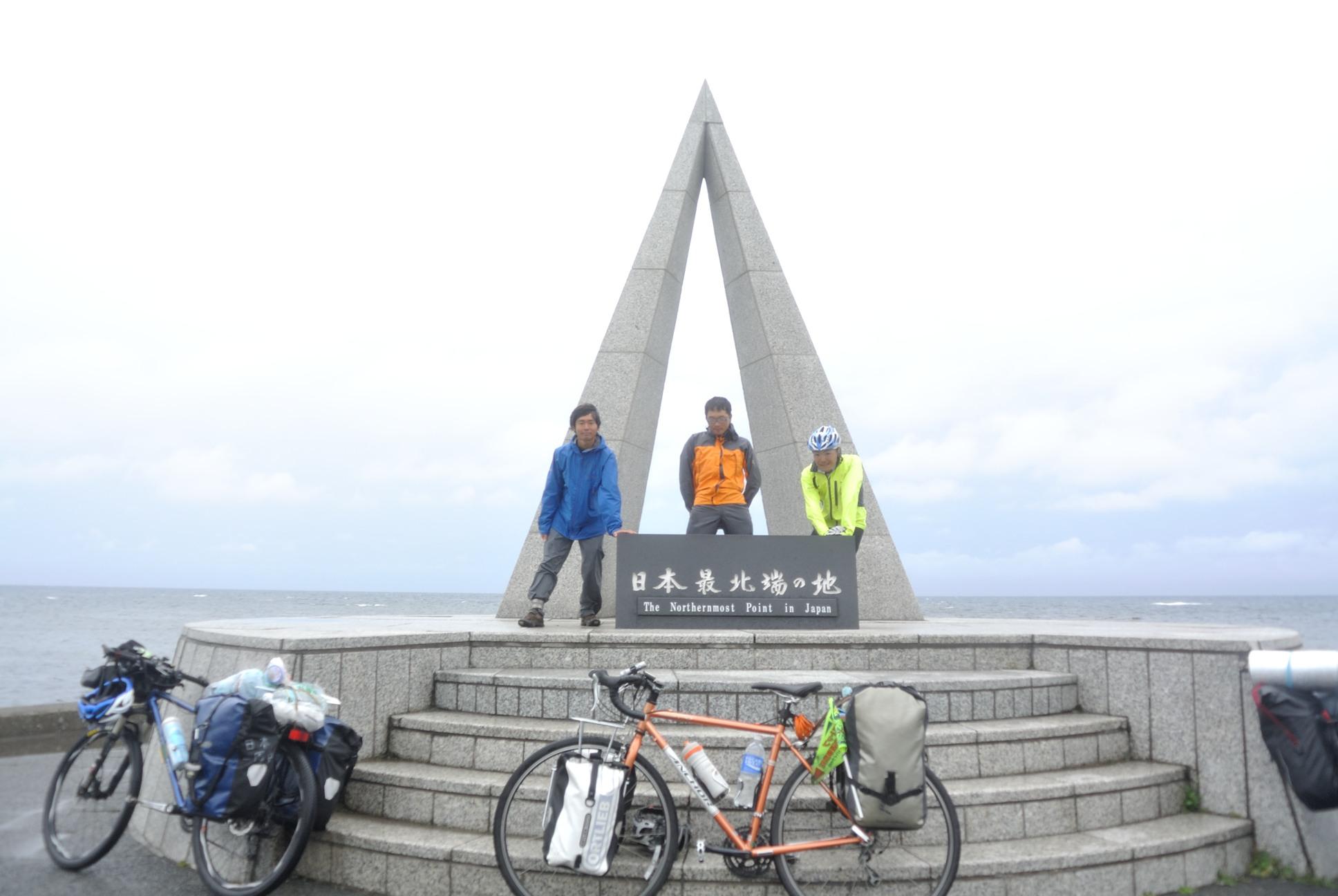 最北端の記念碑にて撮影テイク2