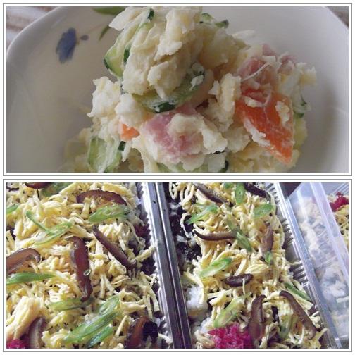20141209ちらし寿司&サラダ