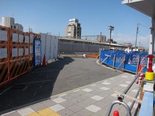 JR岡崎駅 駅前広場の拡幅工事