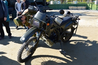 陸上自衛隊  偵察用オートバイ