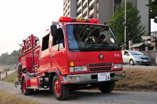 中消防署 本署 中1号車 水そう付消防ポンプ自動車 三菱KK-FK61HGX 艤装:日本ドライ
