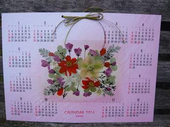 押し花カレンダー2013