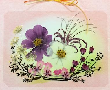 押し花カレンダー2014