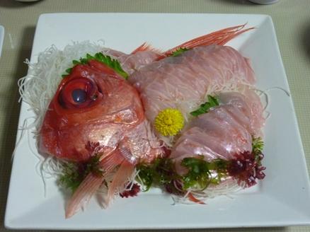 金目鯛の刺身