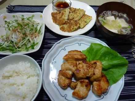 鶏肉のマヨ味噌炒め