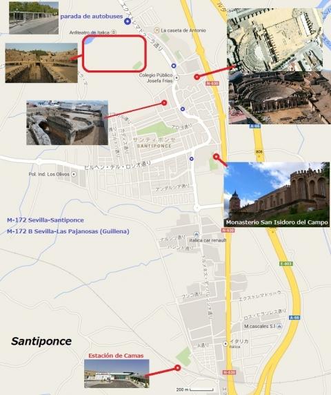 Mapa de Santiponce