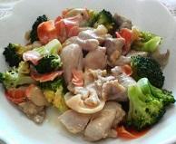 鶏肉とブロッコリーのピリ辛