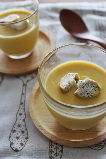 冷たいかぼちゃのスープ