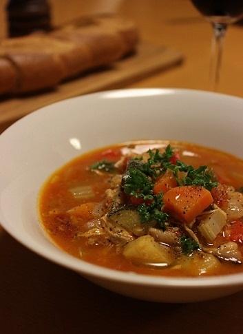 魚のトマトスープ