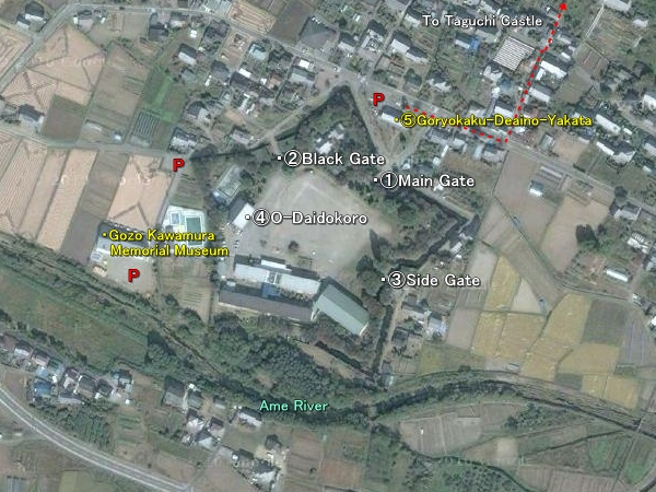 Tatsuoka Castle location