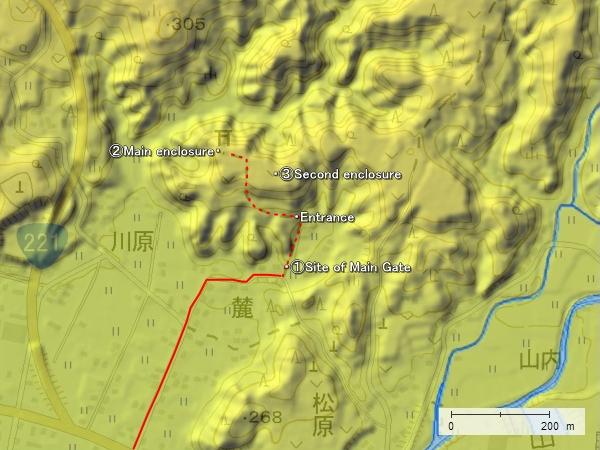 Kakuto Castle location