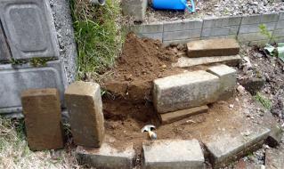 石階段の補修1