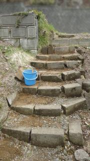 石階段補修ー一段落