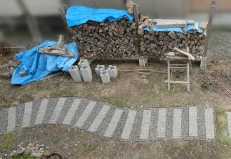 薪置場は同位置再建 上から