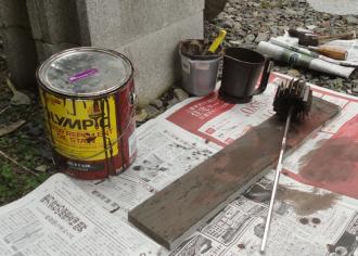 薪置場の材料の塗料はORPS