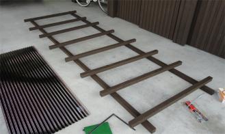 薪小屋屋根 骨格