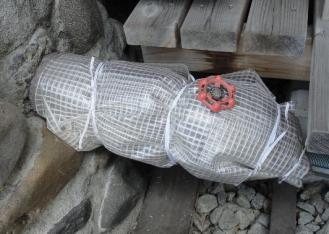 排水パイプのビニール取り替え