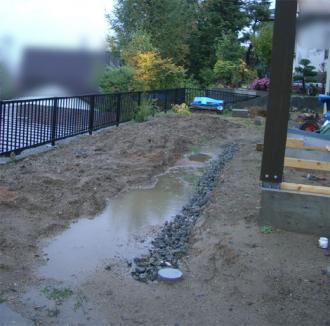 2009年の庭の水たまり