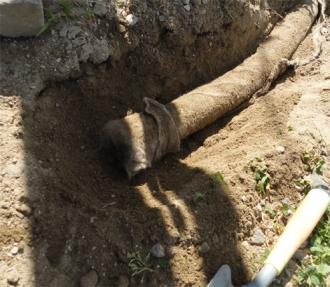排水管短かった