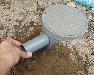 雨水排水管に分岐を付ける