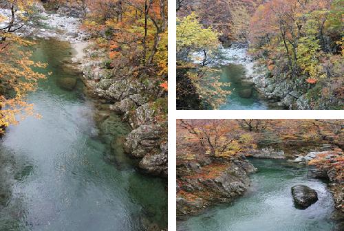 赤柴峡付近の紅葉