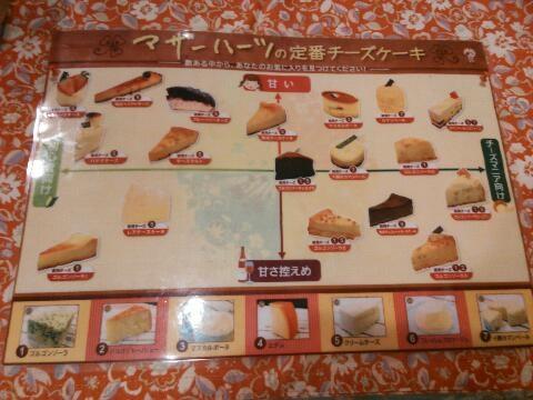 チーズケーキ表