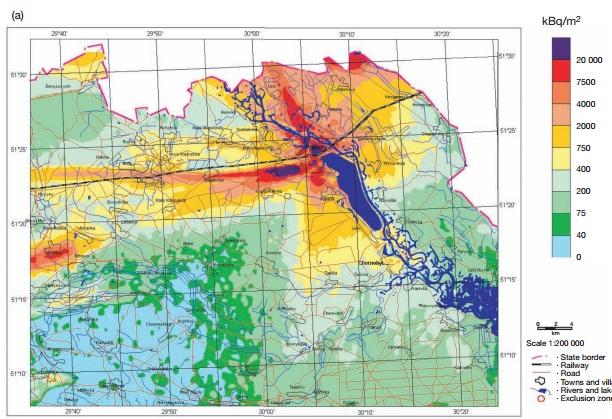 チェルノブイリ汚染地図2
