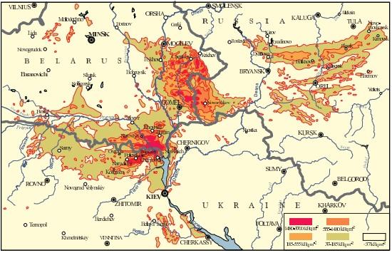 チェルノブイリ汚染地図