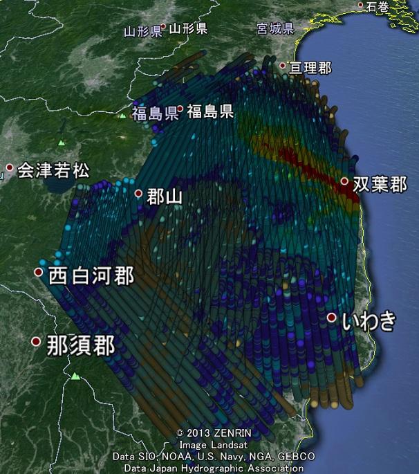 DOEヨウ素汚染地図2