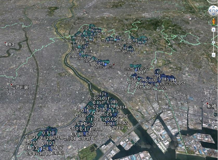 市川市空間線量