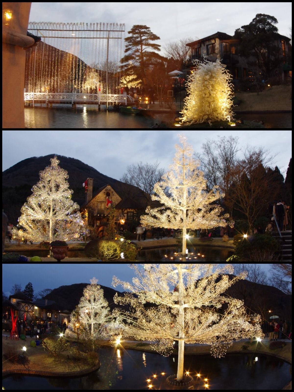 箱根ガラスの森クリスマスツリー