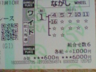 高松宮記念のワイド馬券