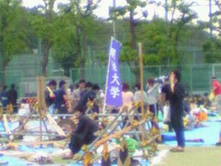 隅田川花火大会観覧会場の明治大学